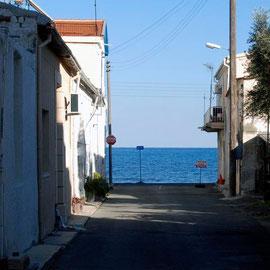 Glimpse of sea, Skala, Larnaka