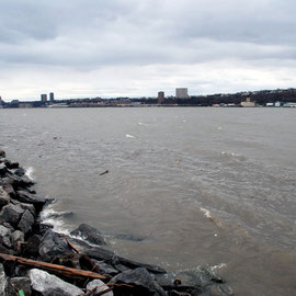 The Hudson and Jersey shore from the Harlem shore