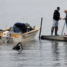 Paying for the day: fishermen at Beacon
