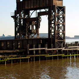 Old railway transhipment pier on the mid West side