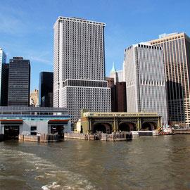 Old and new Staten Island Ferry terminals, Manhattan