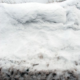 Snow bank, Waldershare Lane
