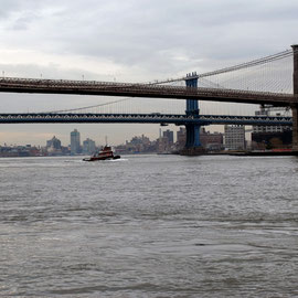 Brooklyn, Manahattan and Williamsburg Bridges and the East River