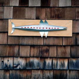 Fish on house wall in Beacon