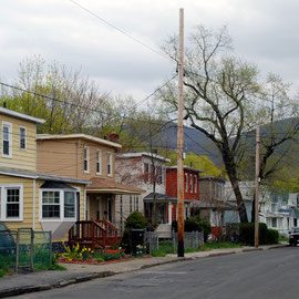 Beacon houses in early spring