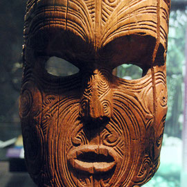 Aotearoa/New Zealand: Kahia (palisade post), Ngati Manawa and Tuhoe, Bay of Plenty (Auckland Museum)