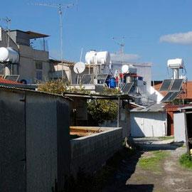 Solar hot water systems, Skala, Larnaka