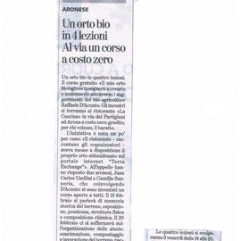 """articolo su """"La Stampa"""" mercoledì 21 gennaio 2015"""