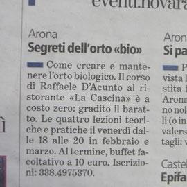 "articolo su ""La Stampa"" venerdì 2 gennaio 2015"
