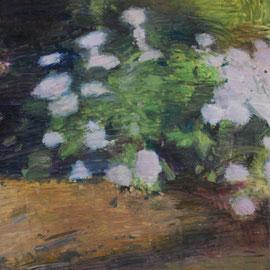 Arbre 22. By Nicolas Borderies, oil on canvas, 160 x 120 cm, 2019.