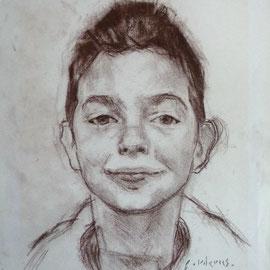 Portrait de garçon. By Nicolas Borderies, graphite on paper, 29,7x 21 cm, 2009.