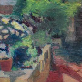 Arbre 27. By Nicolas Borderies, oil on canvas, 160 x 120 cm, 2019.