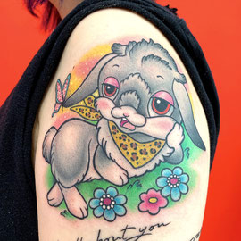 ウサギのタトゥー