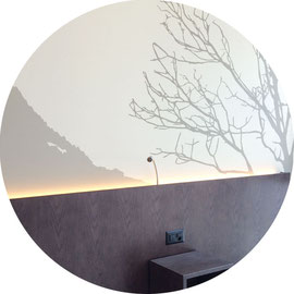 Hotel Artos, Wandgestaltung