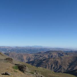 Sierra Nevada mit Blickrichtung Küste