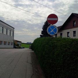 Einfahrt verboten vom Riedberg