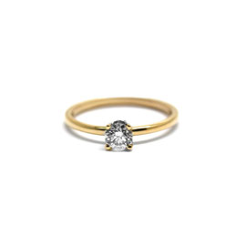 Solitaire or jaune 14k