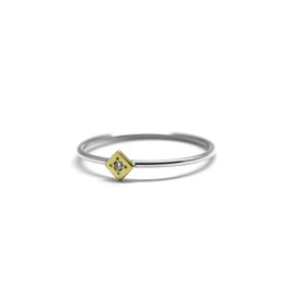 Bague or 14k + diamant
