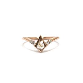 Bague diamant kite champagne + diamants