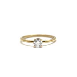 Solitaire or jaune + diamant