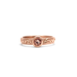 Bague style vintage | Or rose 14k + saphir