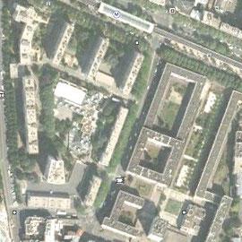 Ilot Glacière vue de satellite en 2011 (GoogleEarth)