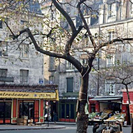 Place de la Contrescarpe vers 1965. au milieu de l'image, les trois billards
