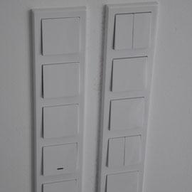 Schalter für Schalter wird eingebaut