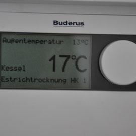 und das Aufheizprogramm fängt bei 17°C Vorlauftemperatur an