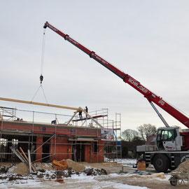 schnell kann man die Dachkonstruktion erahnen