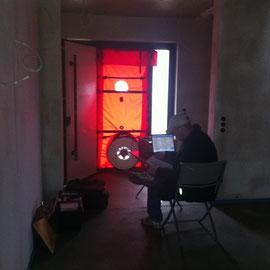 das ist die neue Haustür mit der Lüftung