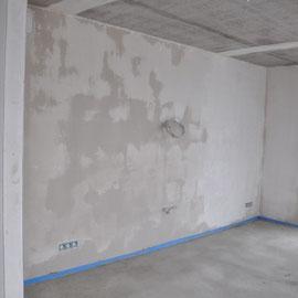 so sind doch immer noch die Wände feucht, auch hier in der Küche