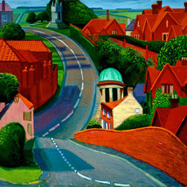 The Road to York through Sledmere, huile sur toile, 1997.