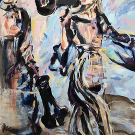 Something to Say 2020   oil, acrylic on canvas   200 x 160 cm