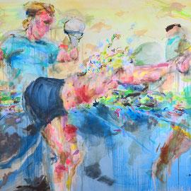 Kick! 2017 | acrylic on canvas | 200 cm x 300 cm