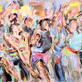 Get Jiggy 2018 | acrylic on canvas | 200 x 325 cm
