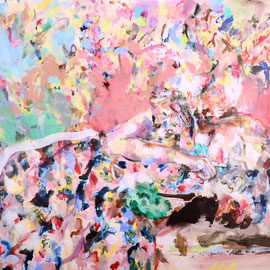 Catlady 2017 | acrylic on canvas | 125 x 200 cm