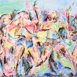 Skank & Rave 2018 | acrylic on canvas | 200 x 400 cm