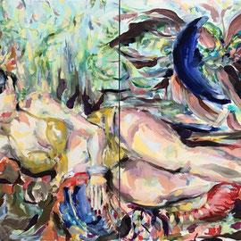 Million Gal 2020 | oil, acrylic on canvas | 90 x 140 cm (2 pieces)