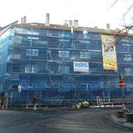 Foto Bauvorhaben während der Sanierung