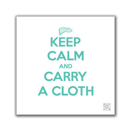 Keep Calm and Carry a Cloth High Chair Mat
