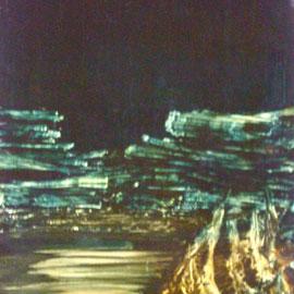 le mur-huile-50x60-1974