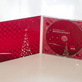 Eine CD im vierseitigen Digipak mit  transparentem Tray