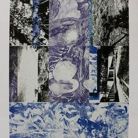 五月の記憶 銅版画、コラージュ他 2011年 多摩美術大学美術館所蔵