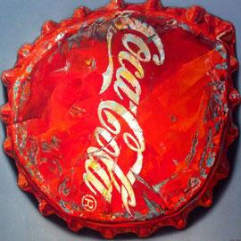 COLA DECKEL, 200 x 200 cm - Öl auf Leinwand