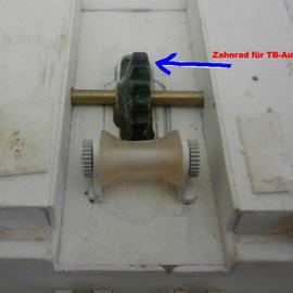 TB-Aufnahme mit Zahnrad