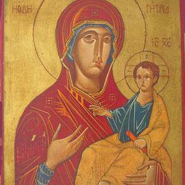 """""""Madonna Oditrigia"""" – olio su tavola cm. 31,5 x 22,5 - Cernusco sul Naviglio, collezione dell'autore"""