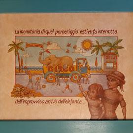 """Ricordo d'infanzia"" - tecnica mista su tavola cm. 40 x 50 € 400"
