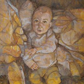 """""""Aurora"""" - olio su tela cm. 50 x 50 - Cernusco sul Naviglio, collezione privata"""