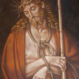 """""""Ecce Homo"""" - acrilico su tela applicata su tavola cm 59 x 85 – Cernusco sul Naviglio, collezione privata"""